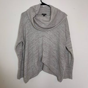 Express Beige/Grey Cowl Neck Pullover Sweater